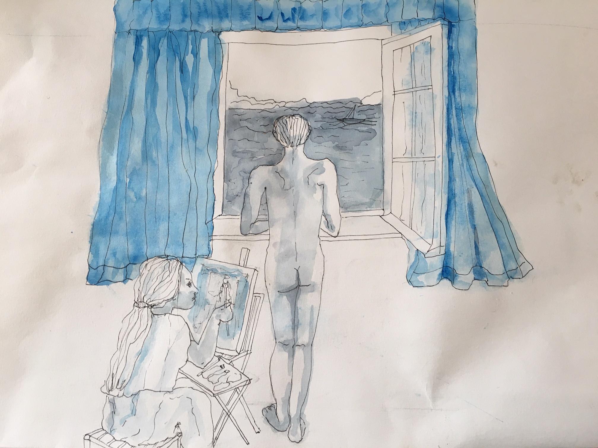 Modèles- Portrait du jeune Télémaque à l'atelier- 2/2